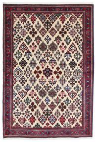 Meimeh Rug 110X160 Authentic Oriental Handknotted Beige/Black (Wool, Persia/Iran)