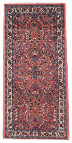 Sarouk Rug 65X136 Authentic Oriental Handknotted Dark Purple/Dark Red (Wool, Persia/Iran)
