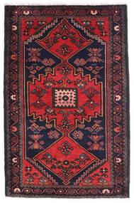 Hamadan Rug 80X135 Authentic  Oriental Handknotted Black/Rust Red (Wool, Persia/Iran)
