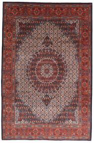 Moud Rug 210X317 Authentic  Oriental Handknotted Dark Brown/Dark Red (Wool/Silk, Persia/Iran)