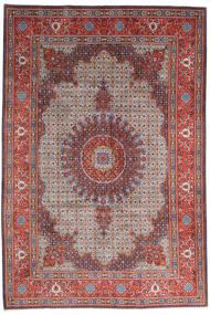 Moud Rug 205X308 Authentic  Oriental Handknotted Dark Red/Light Grey (Wool/Silk, Persia/Iran)