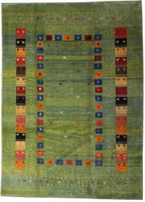 Loribaft Persia Rug 210X291 Authentic  Modern Handknotted Olive Green/Dark Green (Wool, Persia/Iran)