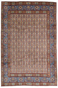 Moud Rug 207X310 Authentic  Oriental Handknotted Light Brown/Dark Brown (Wool/Silk, Persia/Iran)