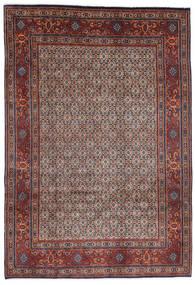 Moud Rug 200X290 Authentic  Oriental Handknotted Dark Brown/Dark Red (Wool/Silk, Persia/Iran)