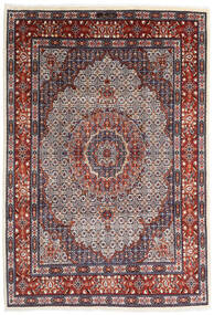 Moud Rug 205X300 Authentic  Oriental Handknotted Dark Purple/Dark Red (Wool/Silk, Persia/Iran)