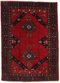 Mashad Rug 207X290 Authentic  Oriental Handknotted Black/Dark Red (Wool, Persia/Iran)