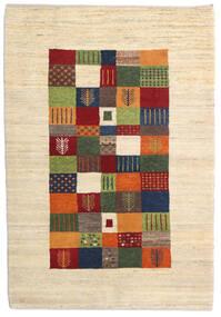 Loribaft Persia Rug 105X151 Authentic  Modern Handknotted Beige/Dark Red (Wool, Persia/Iran)