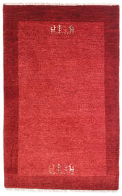 Loribaft Persia Rug 79X128 Authentic  Modern Handknotted Crimson Red/Rust Red (Wool, Persia/Iran)