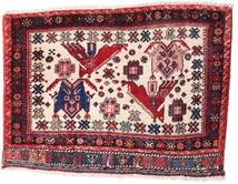 Afshar/Sirjan Rug 55X88 Authentic  Oriental Handknotted Dark Purple/Light Pink (Wool, Persia/Iran)