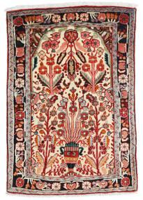 Hamadan Rug 67X100 Authentic Oriental Handknotted Beige/Dark Red (Wool, Persia/Iran)