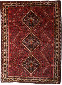 Shiraz Rug 205X280 Authentic  Oriental Handknotted Dark Red/Dark Brown (Wool, Persia/Iran)