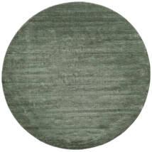 Handloom - Forest Green Rug Ø 250 Modern Round Dark Green/Light Green Large (Wool, India)