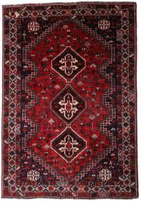 Shiraz Rug 185X265 Authentic Oriental Handknotted Dark Red/Dark Brown (Wool, Persia/Iran)