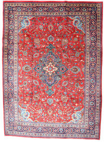 Mahal Rug 227X315 Authentic  Oriental Handknotted Light Grey/Light Pink (Wool, Persia/Iran)