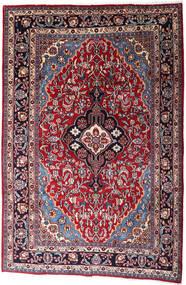 Mashad Rug 200X300 Authentic  Oriental Handknotted Black/Crimson Red (Wool, Persia/Iran)