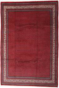 Sarouk Mir Rug 212X310 Authentic  Oriental Handknotted Dark Red/Crimson Red (Wool, Persia/Iran)
