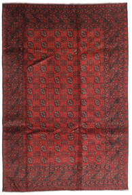 Afghan Rug 196X286 Authentic  Oriental Handknotted Dark Red/Rust Red (Wool, Afghanistan)