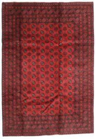 Afghan Rug 202X289 Authentic  Oriental Handknotted Dark Red/Rust Red (Wool, Afghanistan)