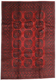 Afghan Rug 196X284 Authentic  Oriental Handknotted Dark Red/Dark Brown (Wool, Afghanistan)