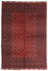 Afghan Rug 197X284 Authentic  Oriental Handknotted Dark Red/Dark Brown (Wool, Afghanistan)