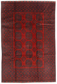 Afghan Rug 195X288 Authentic  Oriental Handknotted Dark Red/Black (Wool, Afghanistan)