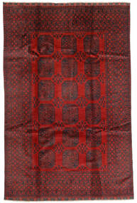 Afghan Rug 192X293 Authentic  Oriental Handknotted Dark Red/Dark Brown (Wool, Afghanistan)