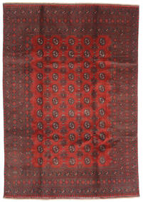 Afghan Rug 200X288 Authentic  Oriental Handknotted Dark Red/Dark Brown (Wool, Afghanistan)