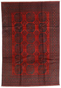 Afghan Rug 196X287 Authentic  Oriental Handknotted Dark Red/Black (Wool, Afghanistan)