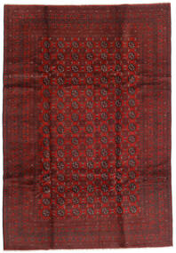 Afghan Rug 199X289 Authentic  Oriental Handknotted Dark Red/Dark Brown (Wool, Afghanistan)