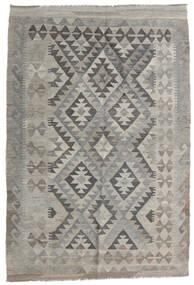 Kilim Afghan Old Style Rug 120X179 Authentic  Oriental Handwoven Light Grey/Dark Grey (Wool, Afghanistan)