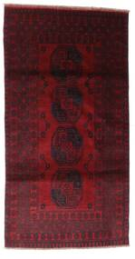 Afghan Rug 103X196 Authentic  Oriental Handknotted Dark Red (Wool, Afghanistan)