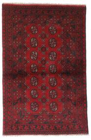 Afghan Rug 95X147 Authentic  Oriental Handknotted Dark Red/Dark Brown (Wool, Afghanistan)