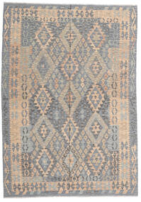 Kilim Afghan Old Style Rug 177X256 Authentic  Oriental Handwoven Light Grey/Dark Brown (Wool, Afghanistan)