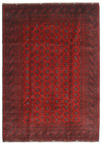 Afghan Rug 197X288 Authentic  Oriental Handknotted Dark Red/Rust Red (Wool, Afghanistan)