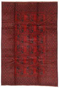 Afghan Rug 197X290 Authentic  Oriental Handknotted Dark Red/Dark Brown (Wool, Afghanistan)