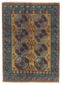 Afghan Rug 122X170 Authentic Oriental Handknotted Dark Grey/Light Brown (Wool, Afghanistan)