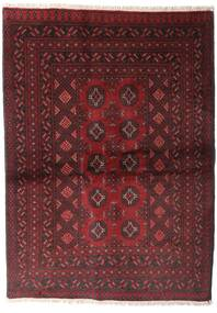 Afghan Rug 103X146 Authentic  Oriental Handknotted Dark Red (Wool, Afghanistan)