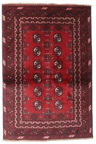 Afghan Rug 88X142 Authentic  Oriental Handknotted Dark Red (Wool, Afghanistan)