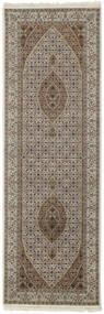 Tabriz Royal Rug 83X251 Authentic  Oriental Handknotted Hallway Runner  Light Grey/Dark Grey ( India)
