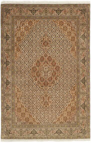 Tabriz 50 Raj Rug 100X158 Authentic  Oriental Handknotted Light Brown/Brown (Wool/Silk, Persia/Iran)