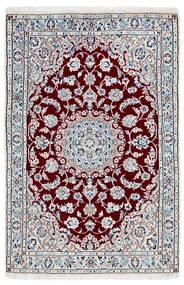 Nain 9La Rug 95X146 Authentic  Oriental Handknotted Light Grey/Beige (Wool/Silk, Persia/Iran)