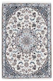 Nain 9La Rug 90X137 Authentic  Oriental Handknotted White/Creme/Light Blue (Wool/Silk, Persia/Iran)