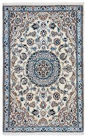 Nain 9La Rug 93X141 Authentic Oriental Handknotted Dark Grey/Light Grey (Wool/Silk, Persia/Iran)
