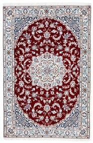 Nain 9La Rug 102X155 Authentic  Oriental Handknotted Beige/Dark Red (Wool/Silk, Persia/Iran)