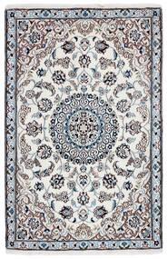 Nain 9La Rug 90X142 Authentic  Oriental Handknotted Dark Grey/Beige/White/Creme (Wool/Silk, Persia/Iran)