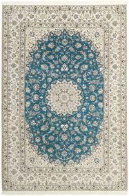 Nain 6La Rug 210X312 Authentic Oriental Handknotted Light Grey/Beige (Wool/Silk, Persia/Iran)