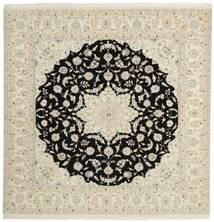 Nain 9La Rug 196X208 Authentic  Oriental Handknotted Square Dark Beige/Beige (Wool/Silk, Persia/Iran)
