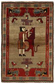 Qashqai Rug 132X200 Authentic  Oriental Handknotted Dark Brown/Light Brown (Wool, Persia/Iran)
