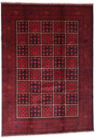 Afghan Khal Mohammadi Rug 203X284 Authentic  Oriental Handknotted Dark Red (Wool, Afghanistan)