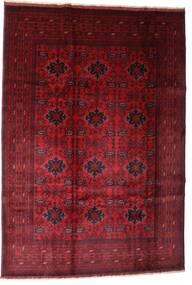 Afghan Khal Mohammadi Rug 201X293 Authentic  Oriental Handknotted Dark Red/Dark Brown (Wool, Afghanistan)